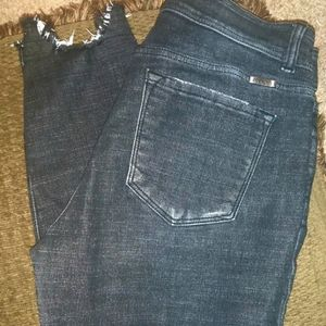 Kancan Fringed Leg Skinny Jeans Size 13/30